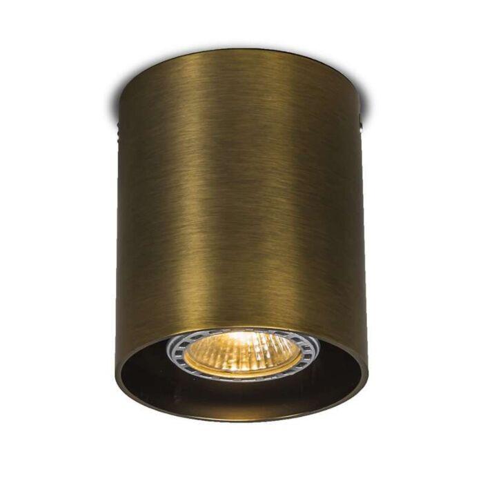 Plafond-strålkastare-'Tubo-1'-Moderna-brons/aluminium-Passande-för-LED