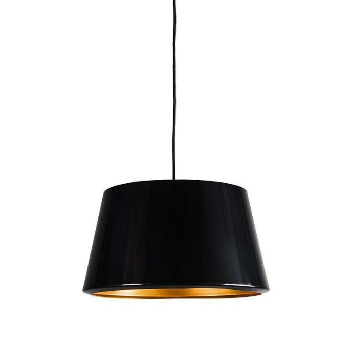 Taklampa-med-skärm-'Vegas'-Design-svart/metall---Passande-för-LED-/-Inomhus