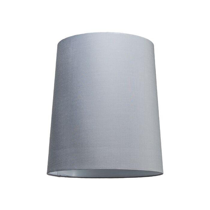 Lampskärm-'35cm-R-SU-E27'-Nej-grå/tyg-Passande-för-LED