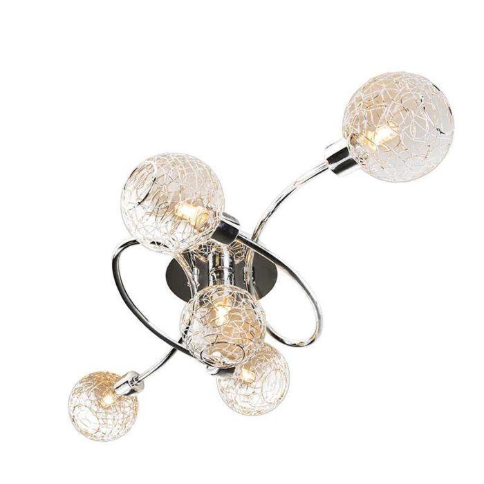 Plafond-'Krakau-5'-Moderna-krom---Passande-för-LED-/-Inomhus