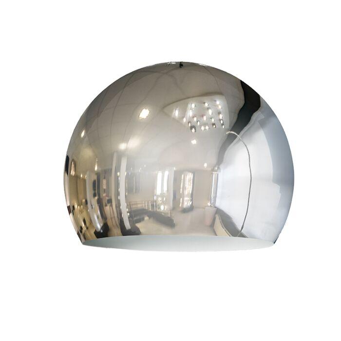 Lampskärm-'Globe-28cm'-Retro-krom--