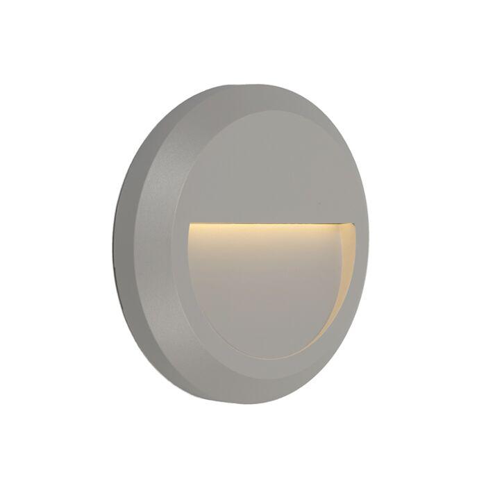 Vägglampa-'Moonlight'-Moderna-grå/polyester---LED-inkluderat-/-Utomhuslampa,-Inomhus,-Badrum