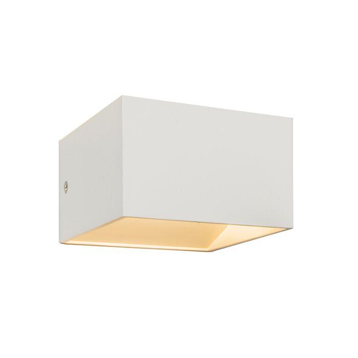 Vägglampa-'Liuz-1'-Moderna-vit/aluminium---LED-inkluderat-/-Inomhus