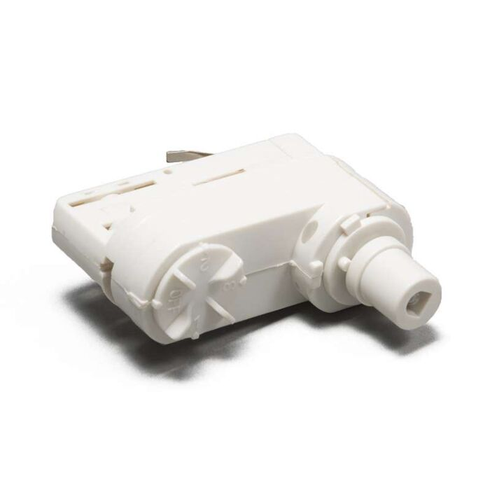 3-fas-samlingsskena-adapter-'L'-Moderna-vit/polyester-Inomhus