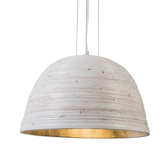 Taklampa-'Pattaya'-Design-vit/metall---Passande-för-LED-/-Inomhus