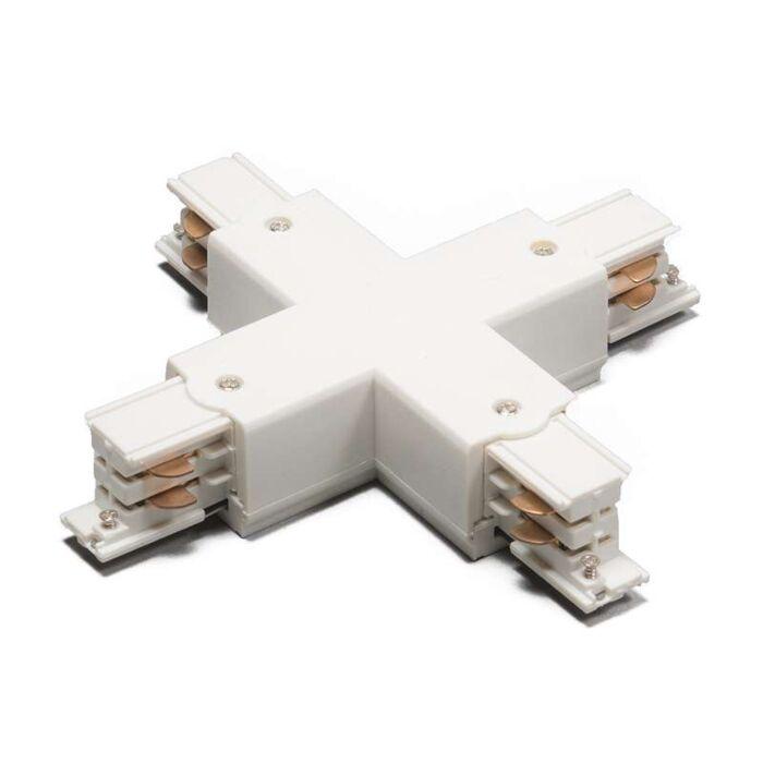 3-fas-samlingsskena-kontakt-'X'-Moderna-vit/polyester-Inomhus
