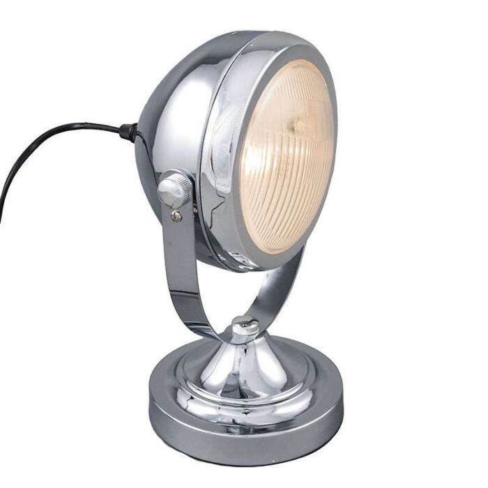 Bordslampa-'Biker'-Retro-krom---Passande-för-LED