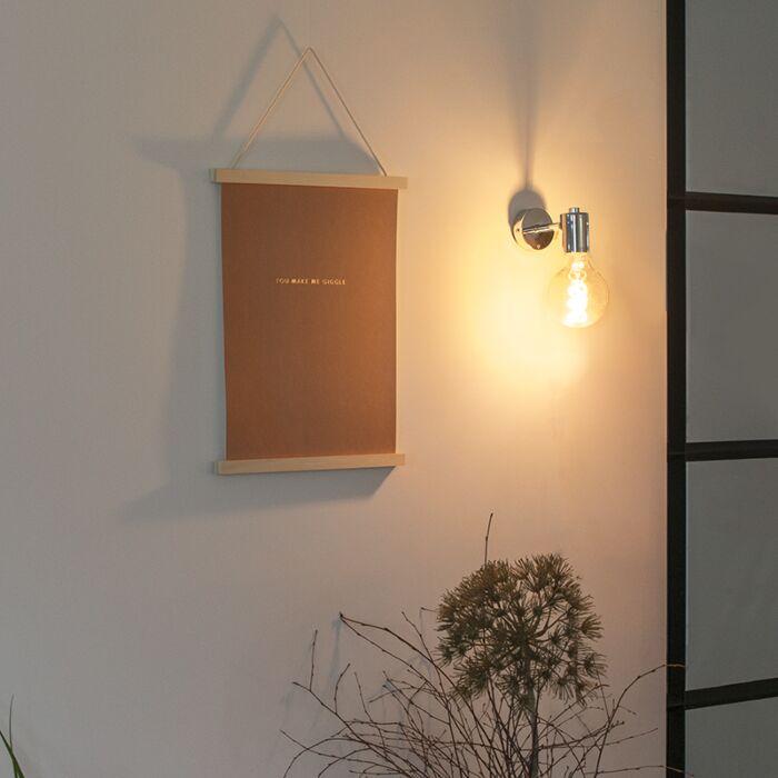 Modern-vägglampa-krom---Facil-1