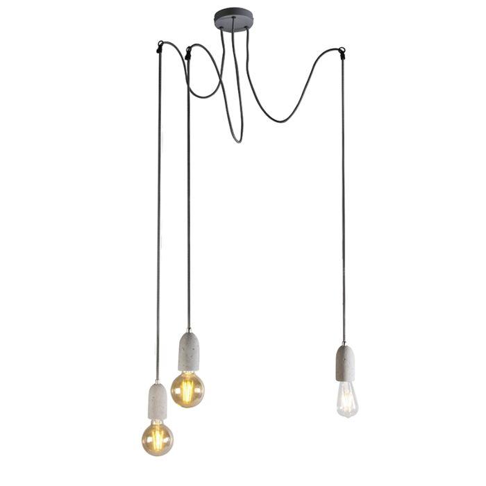 Industriell-hängande-lampa-grå-betong---Cava-3