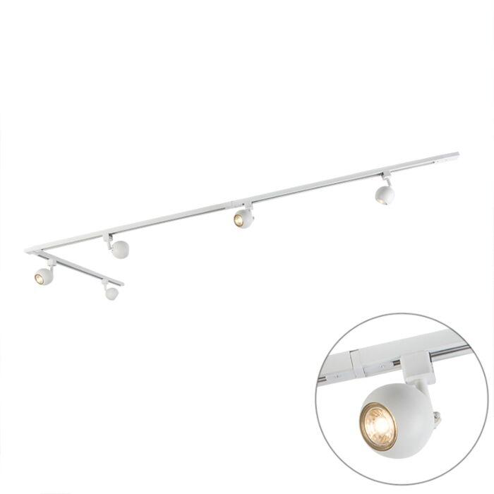 Stor-plafond-'Railspot-Gissi-5'-Moderna-vit/metall---Passande-för-LED-/-Inomhus