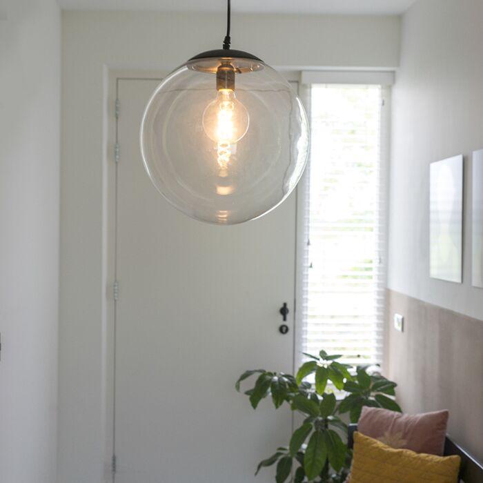 Modern-hängande-lampa-genomskinlig-35-cm---Pallon