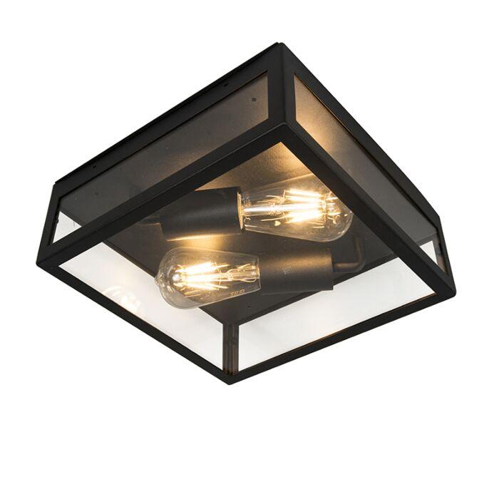 Industriell-taklampa-utomhus-svart-2-ljus---Rotterdam