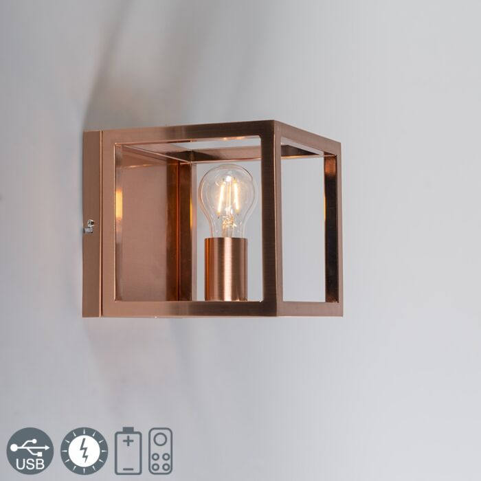 Vägglampa-Cage-1-kopparlampa