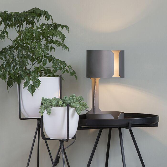 Designbordslampa-matt-stål---Waltz