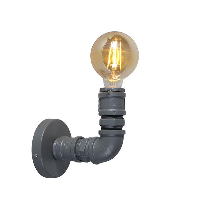 Industriell-vägglampa-mörkgrå---rörmokare-1