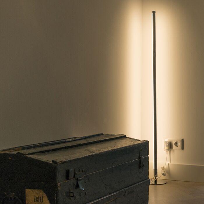 Modern-golvlampa-LED-krom---Line-up