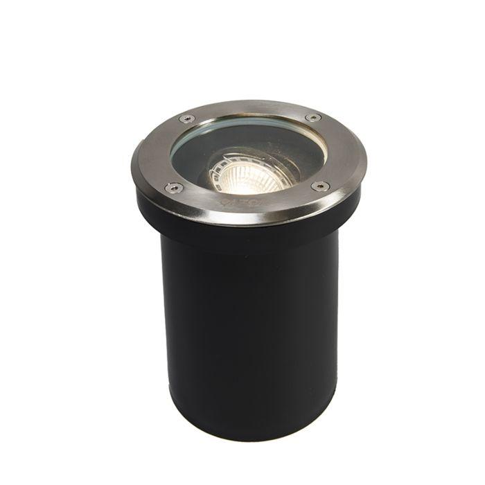 Uppsättning-av-5-utomhus-markfläckar-rostfritt-stål-IP65---Delux