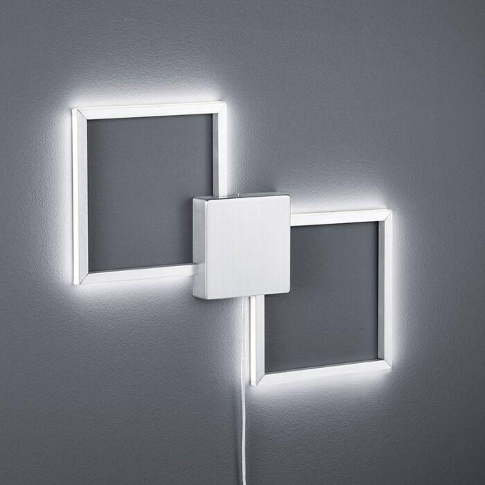 Vägglampa-'Carpo'-Moderna-stål---LED-inkluderat-/-Inomhus