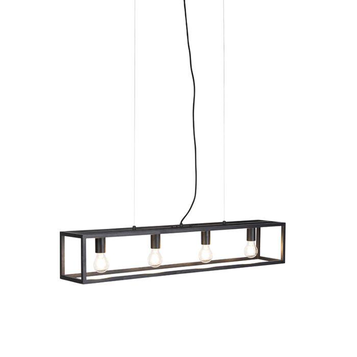 Industriell hänglampa svart stål Camelot | Lamporochljus