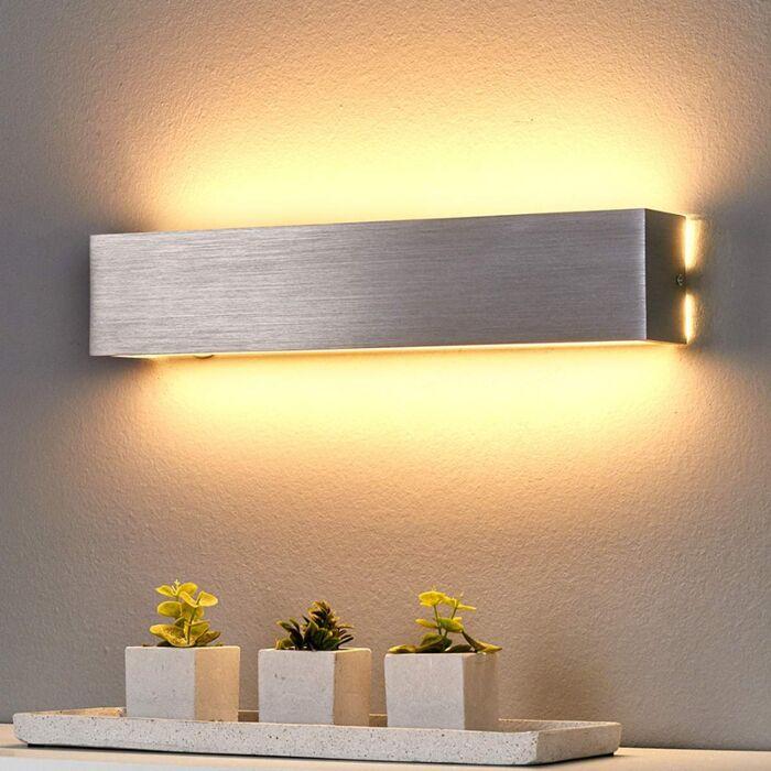 Modern vägglampa stål inkl LED Ranik   Lamporochljus