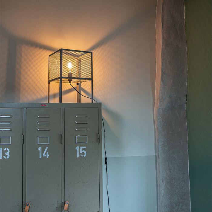 Industriell-bordlampa-antik-silver---Cage-Robusto