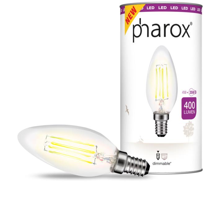 Kronljuslampa-E14-LED-4-Watt-400-Lumen-Varmvitt-Dimbar