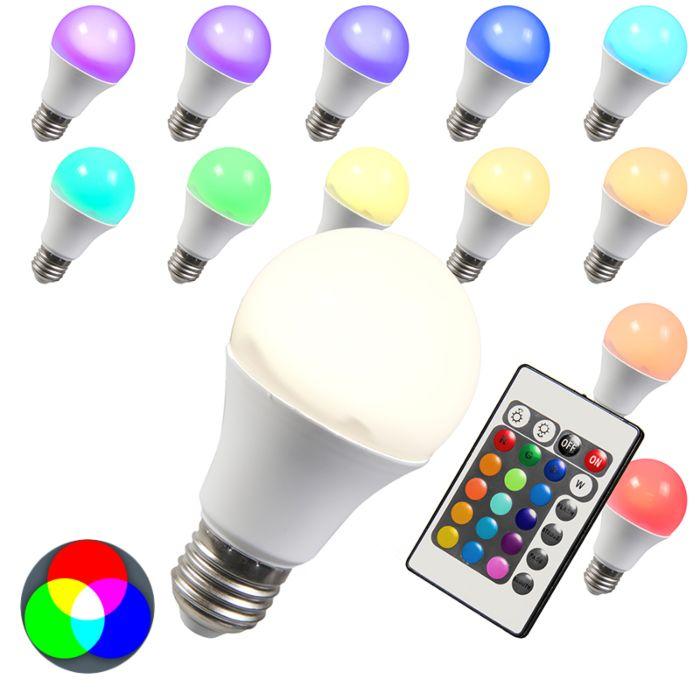 E27-LED-10-Watt-480-Lumen-Varmvitt,-RGB-(valbart)