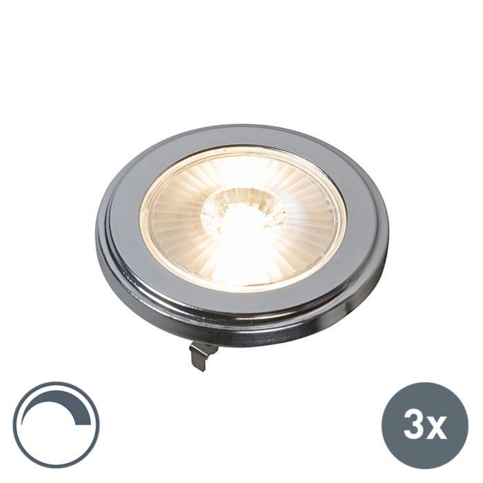 Uppsättning-av-3-G53-dimbara-AR111-LED-lampor-10W-800LM-3000K