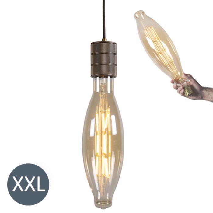 Taklampa-'Elips'-Design-brun/metall---LED-inkluderat-/-Inomhus