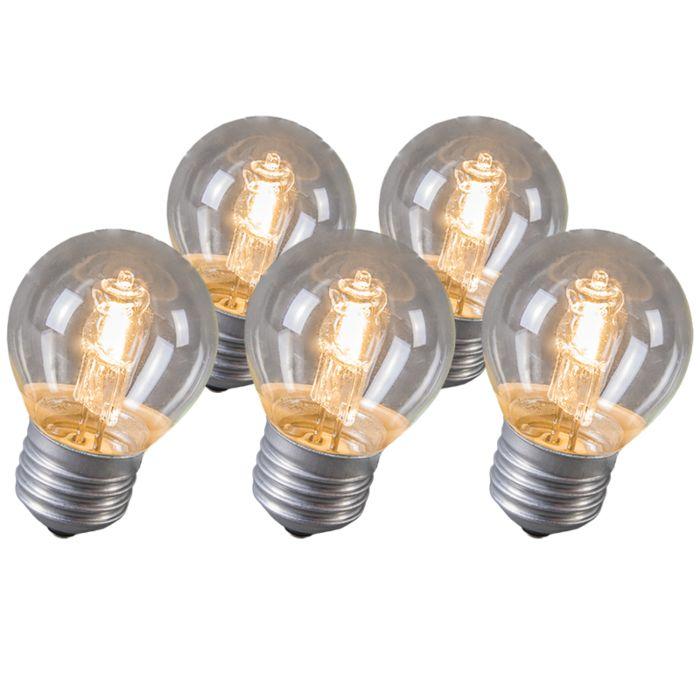 Klotlampa-E27-Halogen-28-Watt-370-Lumen-Varmvitt-Dimbar