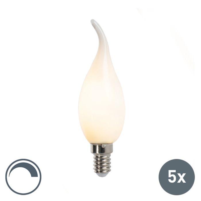 Uppsättning-av-5-E14-dimbara-LED-glödlampor-för-glödlampor-F35-matt-3W
