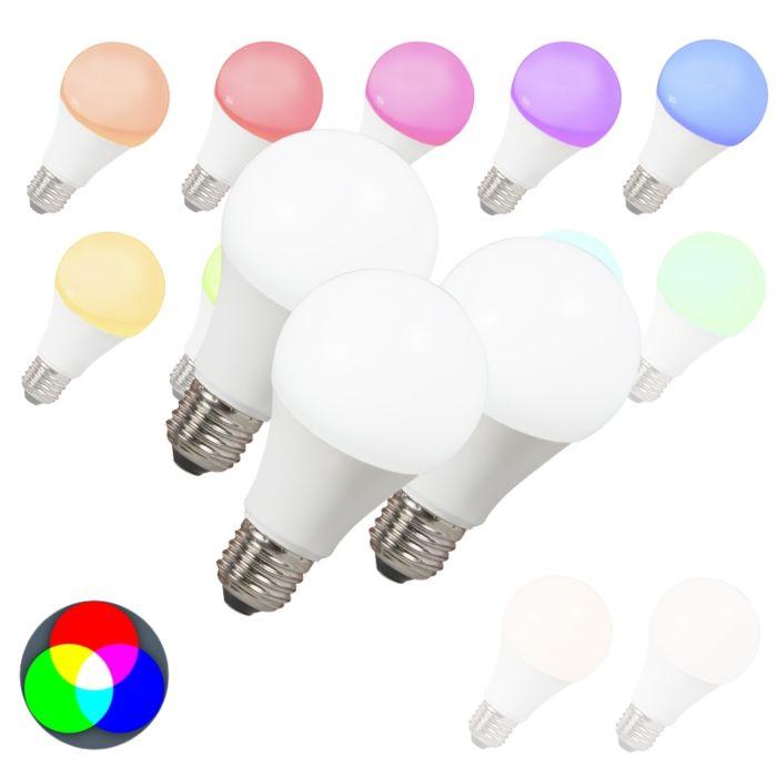 E27-7-Watt-550-Lumen-Varmvitt,-RGB-(valbart)-Dimbar
