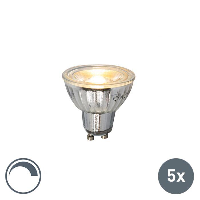 Uppsättning-av-5-GU10-dimbar-LED-lampa-7W-500LM-2700K