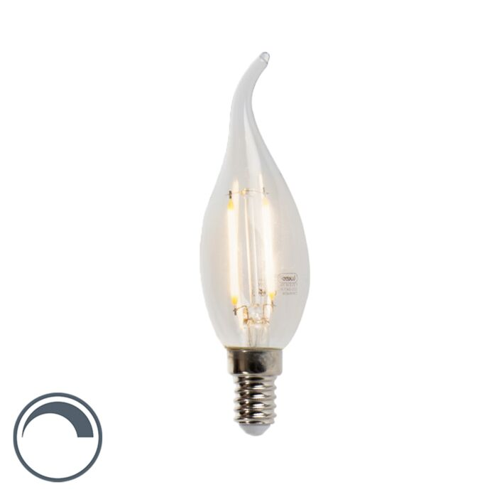 LED-glödlampa-E14-3W-2700K-250lm-F35-dimbar