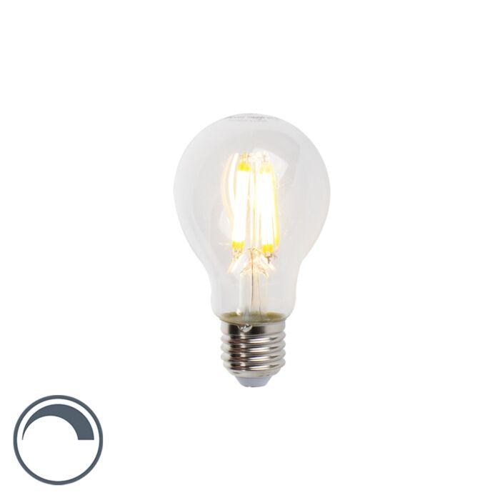 LED-glödlampa-E27-7W-806lm-A60-dimbar-klar