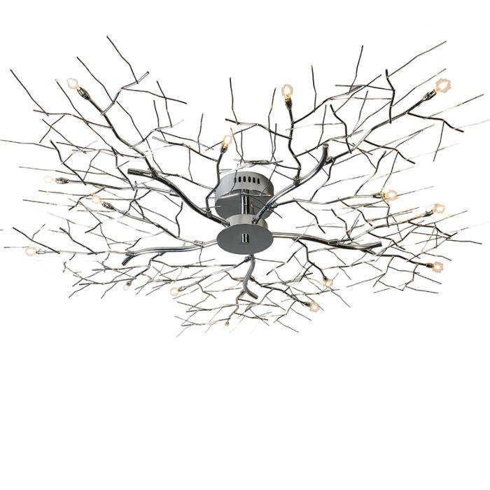 Stor-plafond-'Forest-15'-Moderna-krom---Passande-för-LED-/-Inomhus