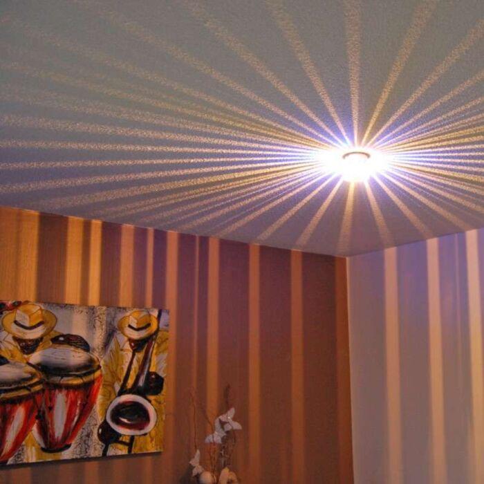 Plafond-och-vägglampa-'Altea'-Moderna-stål---Passande-för-LED-/-Inomhus