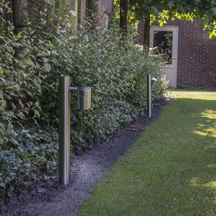 Lykta-till-gång-och-terrass-'Solo-50'-Moderna-stål---Passande-för-LED-/-Utomhuslampa