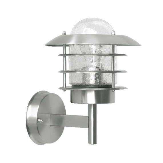 Vägglampa-'Prato'-Klassisk-rostfritt-stål---Passande-för-LED-/-Utomhuslampa