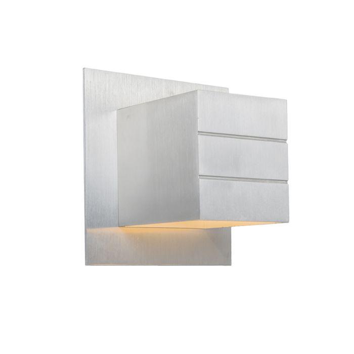 Modern-vägglampa-aluminium---Ypsilon