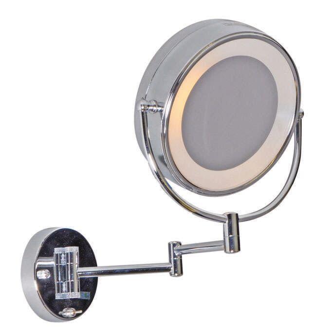 Sminkspegel-och-make-up-spegel-med-belysning-'ME'-Moderna-krom---Inomhus,-Badrum
