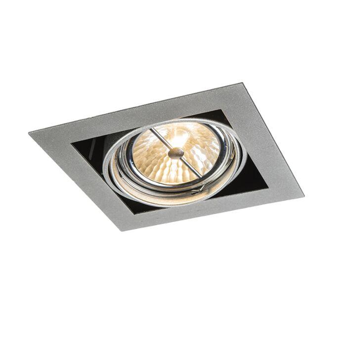 Infälld-plats-i-fyrkantig-aluminium-justerbar-1-ljus---Oneon-111-1