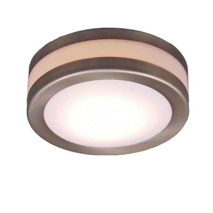 Plafond-'Yuma-14'-Moderna-rostfritt-stål---Passande-för-LED-/-Utomhuslampa,-Inomhus,-Badrum