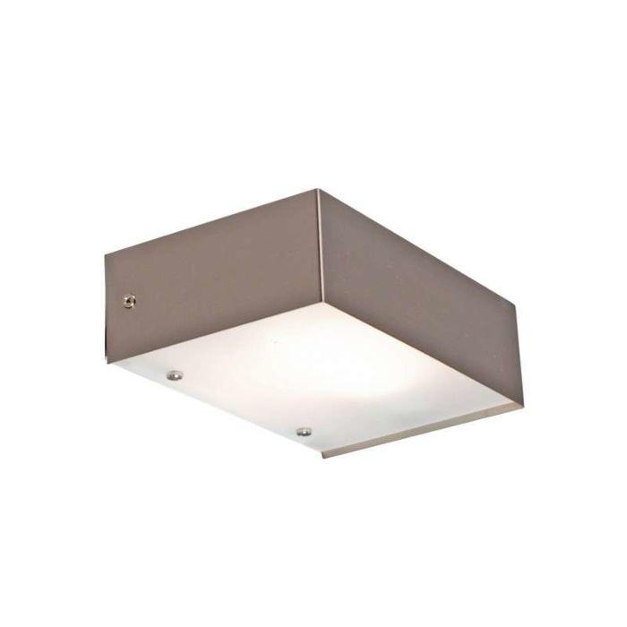 Vägglampa-'Goole'-Design-stål---Passande-för-LED-/-Inomhus