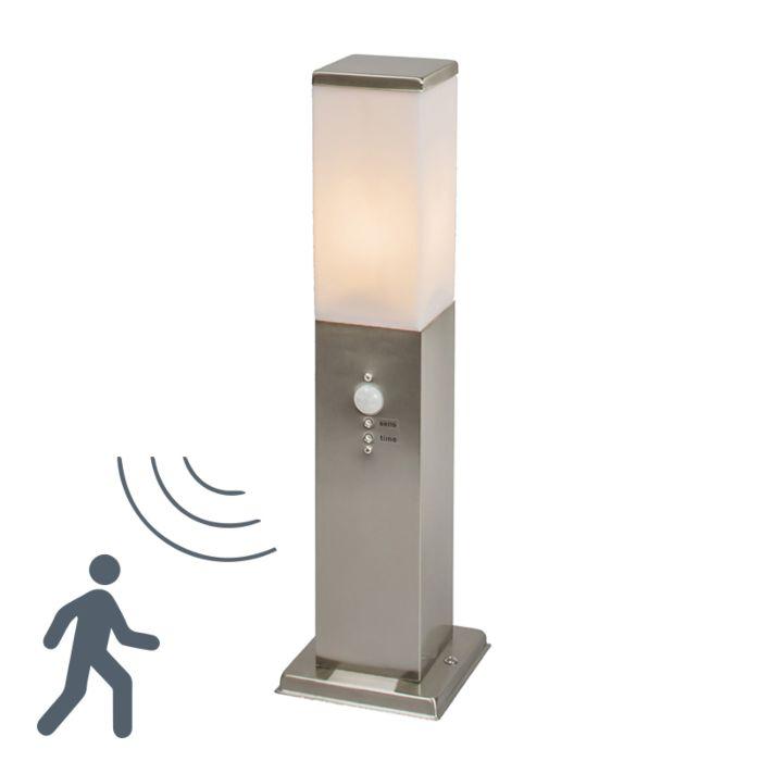 Lykta-till-gång-och-terrass-'Malios-45-IR'-Moderna-rostfritt-stål-Utomhuslampa