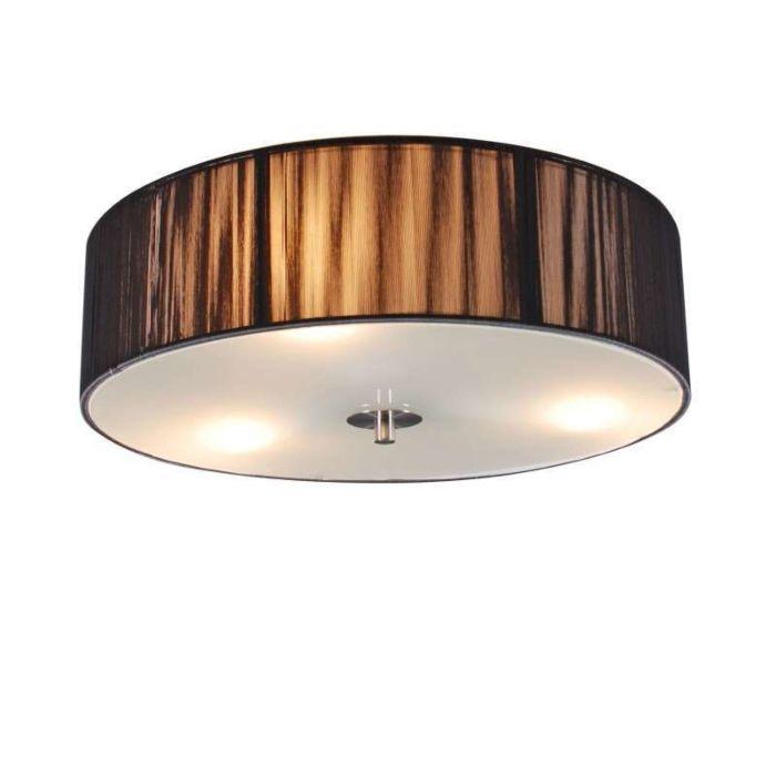 Plafond-med-skärm-'Drum-Rope-R-40'-Moderna-grafit/tyg---Passande-för-LED-/-Inomhus