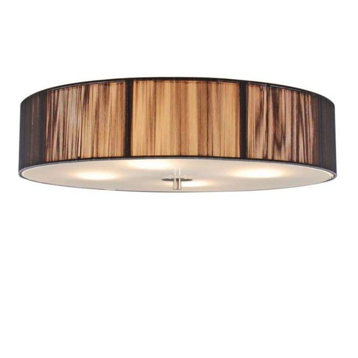 Plafond-med-skärm-'Drum-Rope-R-50'-Moderna-grafit/tyg---Passande-för-LED-/-Inomhus