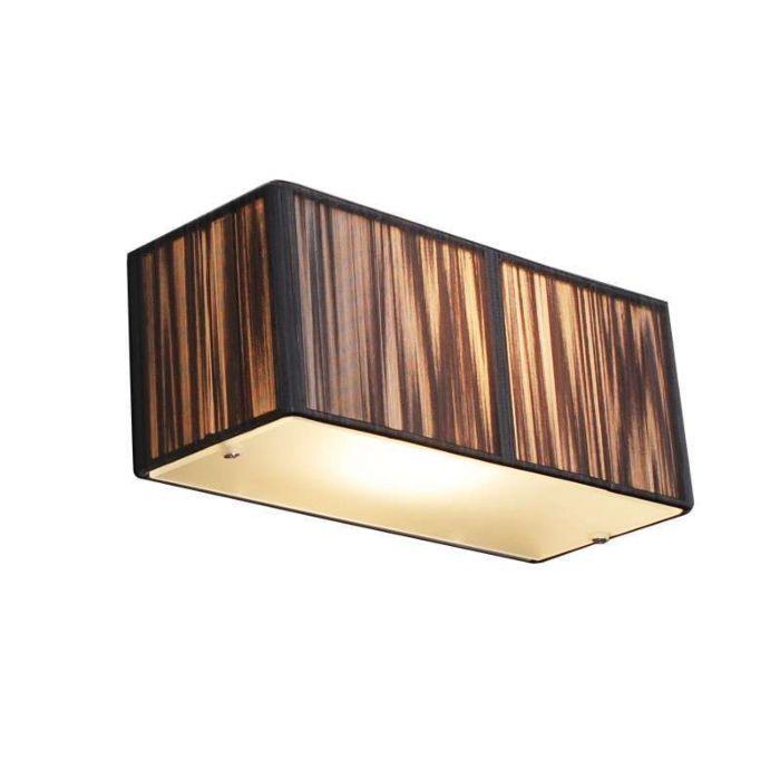 Vägglampa-med-skärm-'Drum-Rope-S'-Moderna-grafit/tyg---Passande-för-LED-/-Inomhus