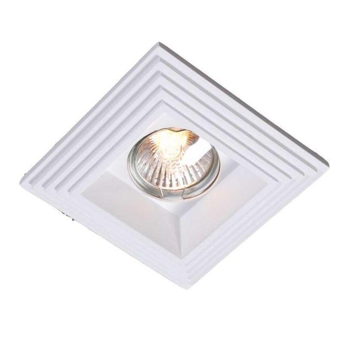 Spotlight/downlight-'Gipsy-Q-Groove'-Moderna-vit/gips---Passande-för-LED-/-Inomhus