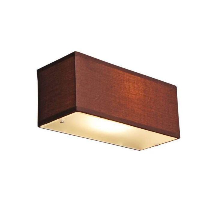 Vägglampa-med-skärm-'Drum-S'-Moderna-brun/tyg---Passande-för-LED-/-Inomhus